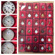 """Collection of 30 """"Hachette"""" pocket watches"""