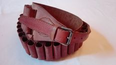 Beautiful leather cartridge belt. Period 20th century.