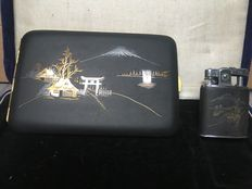 Collector's Items- Set of Japanese Lighter and Cigarettes Case