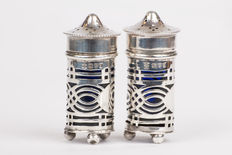 Pepper and salt set, George Nathan & Ridley Hayes, Chester, 1907