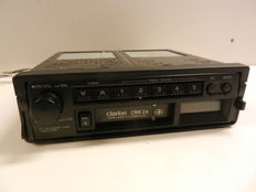Classic Clarion CRN24 car stereo with cassette recorder.