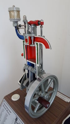 Large scale model 4 stroke Diesel engine Manufacturer. Hohm from the 1970s