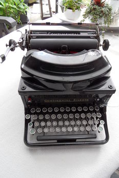 Beautiful antique Continental Silenta typewriter from the Wanderer factory in Chemnitz