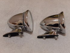 Very nice Pair of Chrome Bullet Style Classic Car Wing Mirrors in Excellent Condition