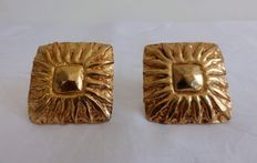 Jean Patou - Ear clip-ons - Gold Plated