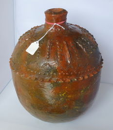 English Medieval Stoneware Pottery Water Vessel - Height 34 cm