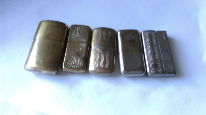 Five lighters old trench homemade, poilus War 1914/1918 WW1