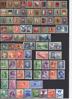 Switzerland 1923/1963 – from Yvert no. 169 to 725, BL3, 6 and 18