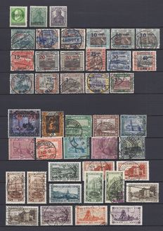 Saarland 1920/1935 - collection with official stamps