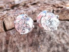 "Pendientes de  Brillantes 1,24 ct. VS2 - F/G  """" Sin Reserva """""