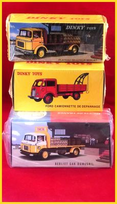 Atlas-Dinky Toys / Norev-CIJ - Schaal 1/43 - Lot with 3 models: Ford tow truck and 2 x GAK Berliet drinks truck