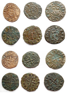Italian Mint - Lot of 6 coins of Svevi and Aragonesi from 12th century
