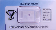 Natural fancy purple pink diamond – 0.09 ct with IGI certificate