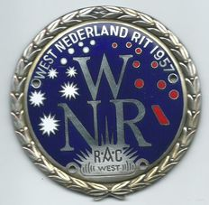 West Nederland Rit Rac West Car Badge Emblem from 1957