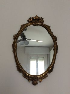 Baroque style wooden wall mirror - 20th C