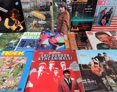 Lot of fourteen great pop and rock albums, incl. the Rolling Stones, Bob Dylan, Animals, Hollies.
