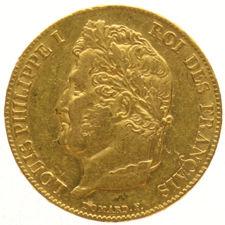 France – 20 francs 1839 A, Louis Philippe I – gold.