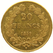 France - 20 francs 1839A Louis Philippe I - gold