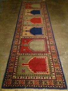 Very beautifully hand knotted hall rug, 290-90 cm, 20th century, made in Romania