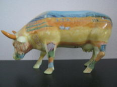 Diana Freedman-Shea for CowParade - Vincent van Gogh - a tribute to Vincent van Gogh - porcelain cow - medium ceramic - retired - includes tag