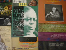 JAZZ MUSIC from New Orleans  :  11 long play  and  3 E.P. of the most important bands  playing in New Orleans ( Armstron, Bechet , King Oliver and other )