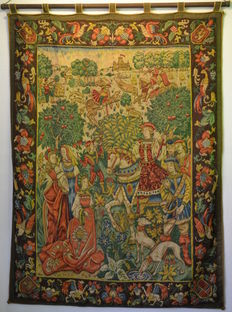 French, TAPESTRY in the medieval Aubusson style, early 20th century