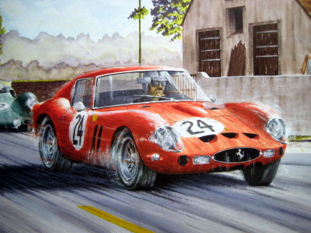 Decoratief object - Ferrari 250 GTO Ecurie Francorchamps - Le Mans - 1963 (1 items)