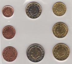 Belgium - year series of Euro coins 1999