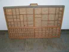 Beautiful antique wooden letter box, The Netherlands, first half 20th century