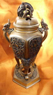 Superb Censer in Bronze - Japan - End of 19th Century.