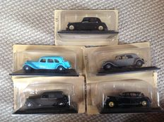 Norev-Atlas - Scale 1/43 - Lot with 5 models: Citroën Traction