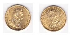 German Empire, Prussia – 20 Mark 1914 A – gold