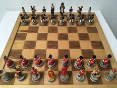 Hand-painted chess set Napoleon