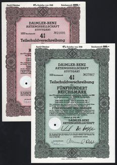 Germany (Stuttgart ) - Daimler-Benz Aktiengesellschaft (Mercedes) - 1942 - Lot of 2