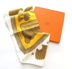 Hermès Scarf – 'Post and Cavalry'