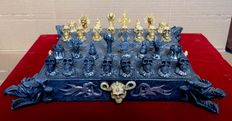 Decorative occultist chess set