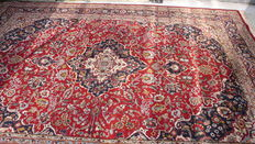 Hand-knotted carpet from India, 348 x 240 cm