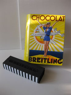 Breitling set comprising rollerball and metal box: UNIQUE