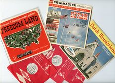 Three rare View-Master packets of three American amusement parks