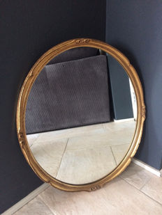 Oval mirror with gold frame, 2nd half 20th century, France