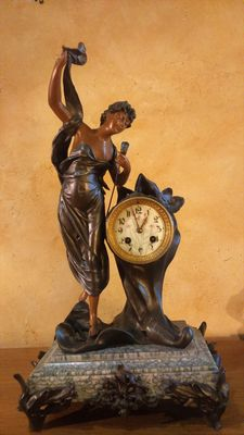 LA FORTUNE mantle clock, early 20th century AD Paris.