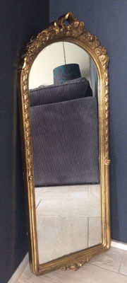 Oblong mirror in Baroque style, second half of 20th century, France