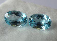Blue Topaz Matching Pair – 16.66 ct
