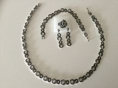 Set of silver marcasite, complete - new condition
