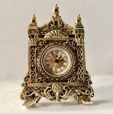 Silver miniature clock