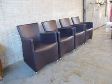 Topform Holland - Set of four leather dining room chairs