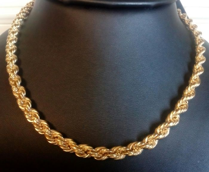 Very thick and heavy rope in 18 kt/750 yellow gold - L: 60 cm