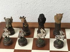 Wildlife chess set - Hand-painted