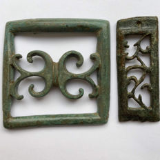 Avarian Bronze Buckle and part of a Belt with a Floral Motives / 50mm(2)