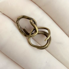 Bronze Age - Two Rare Electron Hair Rings - 12 mm(2)